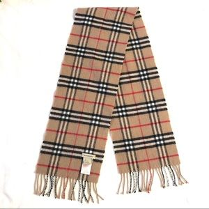 Authentic Burberry Wool Cashmere Checker Kid Scarf